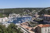 Bonifacio harbor, Corsica. — Stock Photo