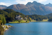 Alpine landscape, St. Moritz, Switzerland. — Stock Photo