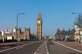 Westminster bridge w londynie, wielka brytania. — Zdjęcie stockowe