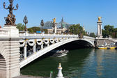 Rio sena, paris. — Foto Stock