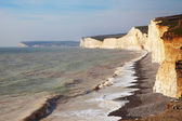Seven Sisters cliffs, England, UK. — Stock fotografie