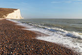 Seven Sisters cliffs, England, UK. — Foto Stock