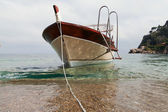 Boat at sicilian coast. — Foto de Stock