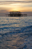 Old pier in Brighton , England. — Foto de Stock