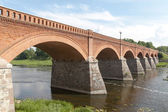 Kuldiga bridge, Latvia. — Stock Photo