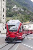 Train in Tirano city, Italy. — Stock Photo
