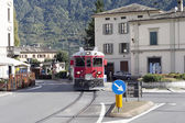 Train in Tirano city, Italy. — Foto de Stock