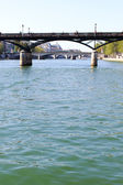 Seine rivier, paris, frankrijk. — Stockfoto