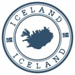 Iceland stamp — Stock Vector