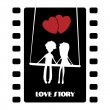 Vector de stock : Love story illustration