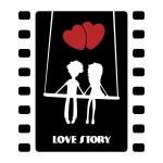 Love story illustration — Stock Vector