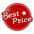 Best price vintage stamp — Stock Vector