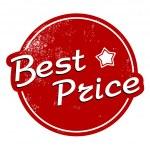 Best price vintage stamp — Stock Vector