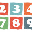 Vintage colored numbers set — Stok Vektör
