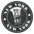 New York stamp - Stock Vector