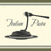 Pasta italiana — Vector de stock