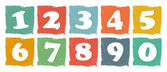 Vintage colored numbers set — 图库矢量图片