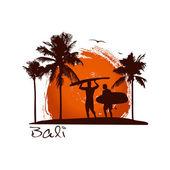 Bali illustration — Stock Vector