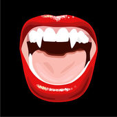 Vampire mouth — Stock Vector