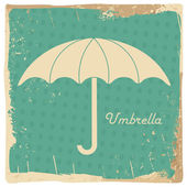 Vintage umbrella illustration — Stock Vector