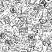 Postzegels achtergrond — Stockvector
