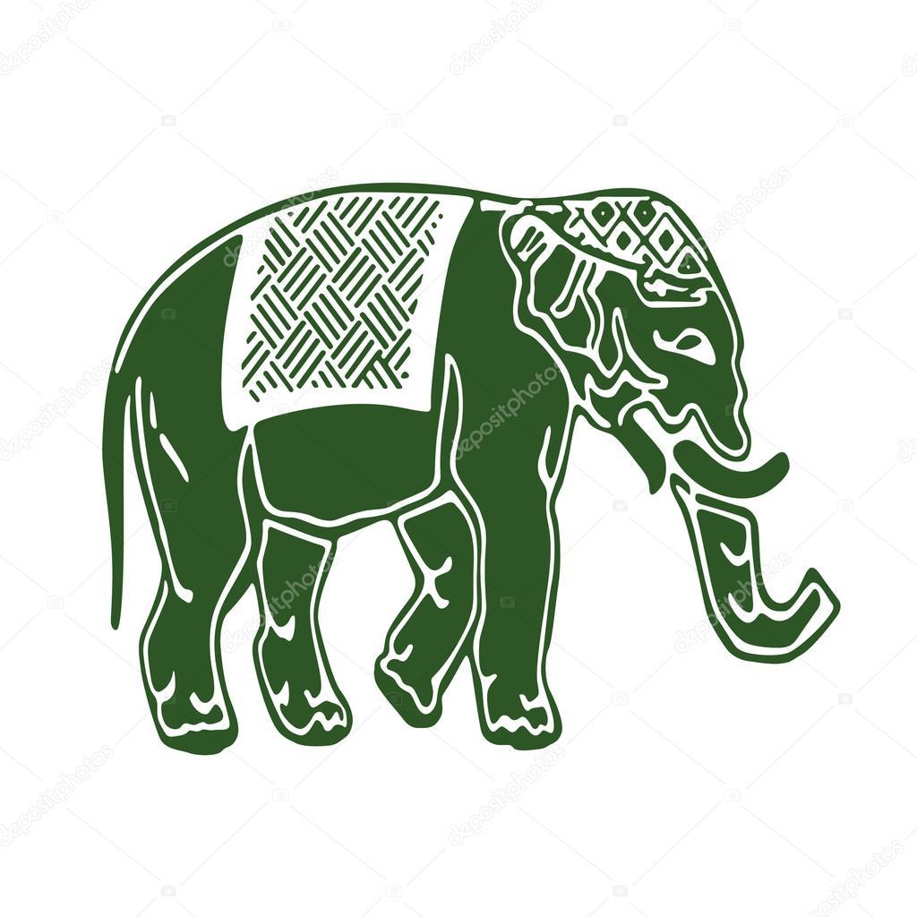 印度大象— 矢量图片作者 missbobbit