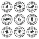 European stamps set — Stock Vector