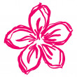 Vector de stock : Flower pink