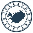 Vector de stock : Iceland stamp