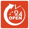 24 Hours Open icon — Stock Vector #23666445