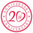 Twenty Years Anniversary stamp - Stock Vector