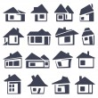 Houses icons set — Stok Vektör