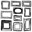 Set of vintage stylized frames and design elements — Stock Vector
