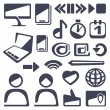 Web icons set — Stock Vector