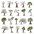 Trees icons set — Vettoriale Stock #23667309