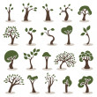 Trees icons set — Stock Vector