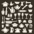 Kitchen utensils vector — Stock Vector