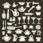 Kitchen utensils vector — Stock Vector