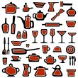 Kitchen utensils vector — Stock Vector #23667649