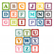 Alphabet blocks collection — Stock Vector