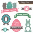 Easter theme design elements - Stock Vector