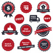 Sale labels set — Stock Vector