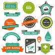 Travel labels — Vector de stock #23668129