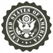 United States of America stamp — Image vectorielle