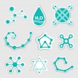 Chemical icons — Image vectorielle