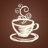 Coffee cup illustration — Vector de stock
