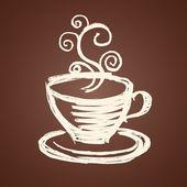 Koffie beker illustratie — Stockvector