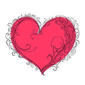 Pink heart — Wektor stockowy