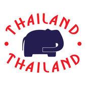 Emblema de tailandia — Vector de stock