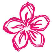 Blomma rosa — Stockvektor